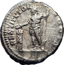 SEPTIMIUS SEVERUS sacrificing 200AD Rome  Ancient Silver Roman Coin  i73406
