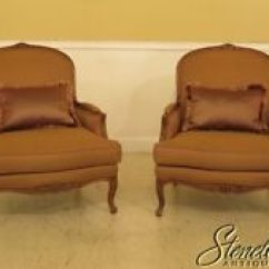 Ethan Allen Wingback Chairs Target Stacking Living Room Ebay 45206ec Pair French Upholstered Bergere