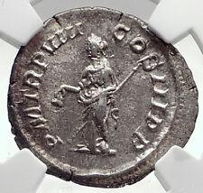 SEVERUS ALEXANDER Authentic Ancient 229AD Silver Roman Coin LIBERTAS NGC i72762
