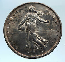 1964 FRANCE French LARGE with La Semeuse SOWER WOMAN Silver 5 Francs Coin i74333