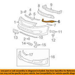 2004 Honda Accord Parts Diagram The Wiring For Thermostat Bumpers Ebay Oem 08 12 Front Bumper Side Support Bracket Left 71190te0a00