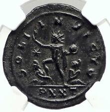 AURELIAN Authentic Ancient 270AD Genuine Roman Coin SOL CAPTIVE NGC i76293