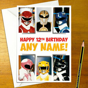 power rangers cards invitations for