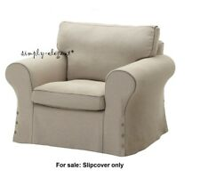 ikea linen chair covers comfy for teenager blend furniture slipcovers ebay ektorp cover replacement armchair slipcover risane natural