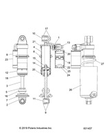 Polaris New OEM Rear Suspension Spring Adjuster Adjustment