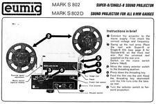 Manuali e guide vintage Eumig per fotografia e video
