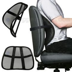 Office Chair Cushion Hair Salon Seat In Orthotics Braces Orthopedic Sleeves Cool Vent Mesh Back Lumbar Support New Car Truck Black