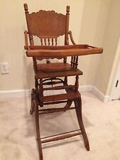 antique high chairs first step chair wood ebay rocker