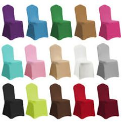 Custom Banquet Chair Covers Lounge Chairs For Pool Area Wedding Without Bundle Ebay 1 4 6 10 Spandex Stretch Folding Elastic Cover Party