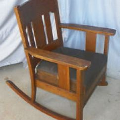Rocking Chair Antique Styles Swivel Rocker Patio Chairs Oak Antiques Ebay Arts And Crafts Mission Original Finish