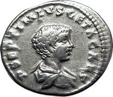 GETA 202AD Laodicea ad Mare Silver Authentic Ancient Roman Coin MARS i70082