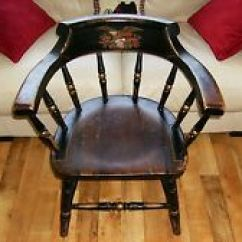 Captains Chair Covers No Arms Antique In Chairs 1900 1950 Ebay Captain S Rare Wooden With Eagle Carrying American Shield