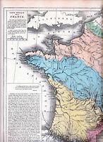 Carte Physique De La France : carte, physique, france, Buache, Physical, France