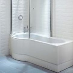 B&q Kitchens Kitchen Remodeling Orlando Kidney Bathroom Accessories Fittings Ebay Beresford P Shaped Shower Bath 1700 700 5mm Acrylic With Tap Holes Left Hand Tub