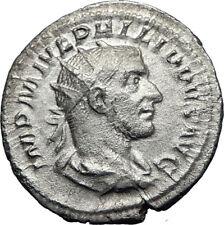 PHILIP I 'the Arab' 247AD Rome Silver Ancient Roman Coin Laetitia Happy i70070