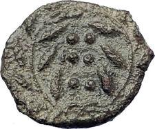 HIMERA Sicily 420BC Ancient  Greek Coin Nymph &  WREATH of success  i73443
