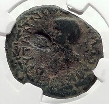 CLAUDIUS & BRITANNICUS Portrait ANCIENT Thessalonica Roman Coin NGC i72663