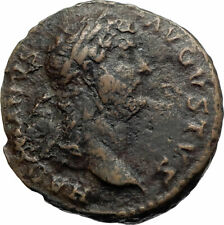 HADRIAN Authentic Ancient 132AD Rome Original Roman Coin CLEMENTIA i74834