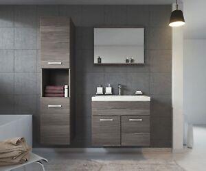 meubles de salle de bain gris en bois