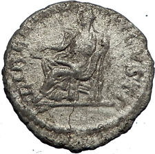ELAGABALUS  220AD Rome Authentic Ancient Silver Roman Coin LIBERTAS i69733