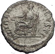 ELAGABALUS  220AD Rome Authentic Ancient Silver Roman Coin LIBERTAS i69733