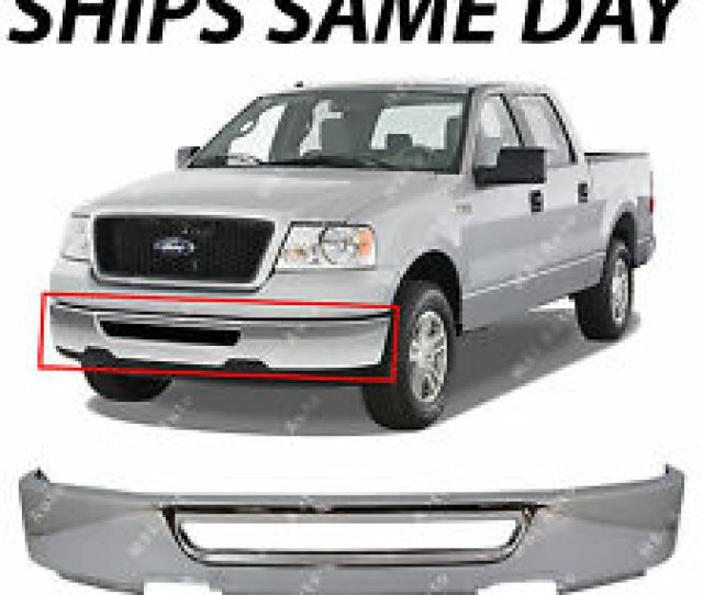 New Chrome Front Bumper Cover Face Bar For  Ford F150 W