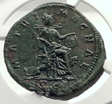 FAUSTINA II Jr MARCUS AURELIUS Wife Sestertius Ancient Roman Coin  NGC i71716