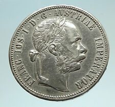 1878 AUSTRIA FRANZ JOSEPH I Silver Mint State Silver Florin Vintage Coin i76638