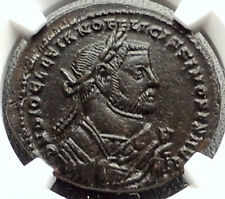 DIOCLETIAN Abdication Issue 305AD Ancient Roman Coin of London NGC AU i67623