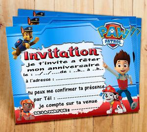 cartes invitations anniversaire dans