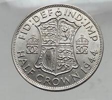 1944 Great Britain United Kingdom UK GEORGE VI Silver Half Crown Coin i63549
