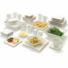 kitchen plates target table sets porcelain dinner service set ebay 45 piece white dinnerware square banquet dishes bowls