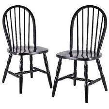 windsor kitchen chairs blue metal folding ebay set of 2 classic beech wood dining black
