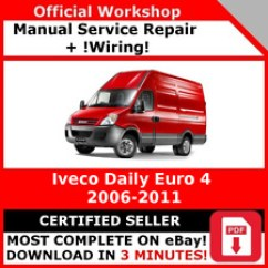 Iveco Daily 2007 Wiring Diagram 1995 Dodge Ram 1500 Headlight Workshop Manual Ebay Factory Service Repair Euro 4 2006 2011