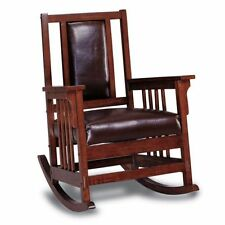 arts and crafts style chair farmhouse table chairs mission ebay rocking