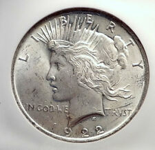 1922 US Silver PEACE DOLLAR Large United States Coin LIBERTY & EAGLE NGC i70575