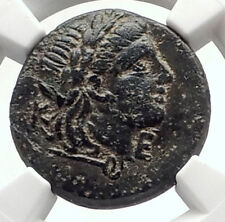 KEBREN in TROAS Authentic Ancient 400BC Greek Coin APOLLO RAM EAGLE NGC i70557