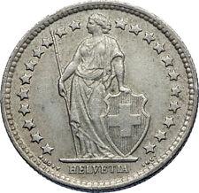 1960 SWITZERLAND SILVER 1/2 Francs Coin HELVETIA Symbolizes SWISS Nation i71944