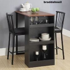 small kitchen table and chairs set tables for office space saving rectangular modern dining furniture sets ebay design 3 piece dorm pc black