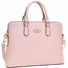 Women Faux Leather Briefcase Laptop Handbag Satchel Bag Business Work Purse