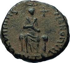 EUDOXIA Arcadius Wife 400AD Authentic Ancient Roman Coin HAND OF GOD i66553