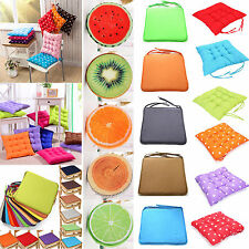 chair cushions tie on white dining room round ebay cushion seat pads indoor home kitchen office square