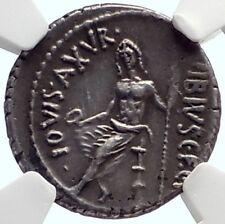 Roman Republic 48BC Rome Authentic Ancient Silver Coin PAN JUPITER NGC i68927