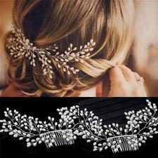 luxury vintage bride hair accessories handmade pearl wedding jewelry comb th