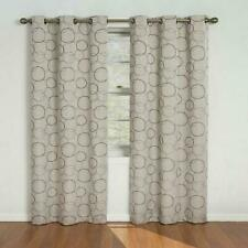 circles window curtains drapes for