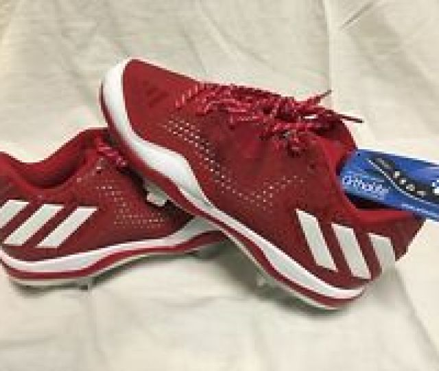 Adidas Poweralley 4 Softball Cleats Red White Q16595 Womens Size 7 5