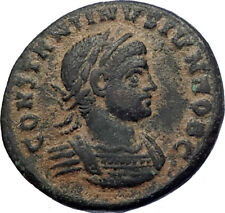 CONSTANTINE II Constantine the Great son 321AD Ancient  Roman Coin Wreath i73663