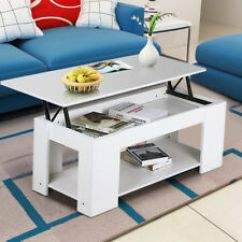 Tables Living Room Paint Schemes For Unbranded Mdf Chipboard Coffee Ebay Wooden Lift Up Top Table With Storage Shelf Furniture