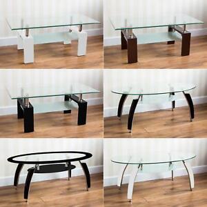 glass chrome coffee table for sale ebay