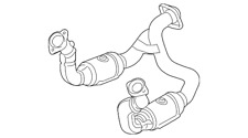 Genuine OEM Catalytic Converters for Ford F-250 for sale